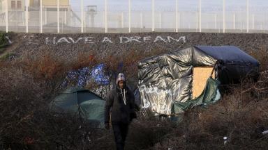 Aid: The so-called 'Calais Jungle'.