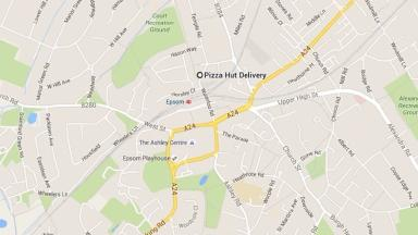 Attack: The incident happened near a Pizza Hut in Epsom