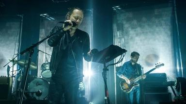 Protest: Radiohead perform in London last month.