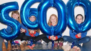 Shoes for refugees: Girls across Scotland have collected over 5000 pairs of shoes.