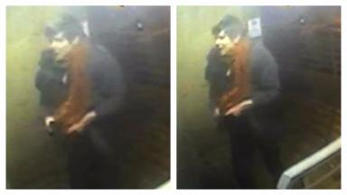 Appeal: Detectives want to speak to the man pictured in CCTV.