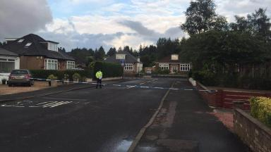 Dorian Drive: Police sealed off scene of shooting in Clarkston, East Renfrewshire.