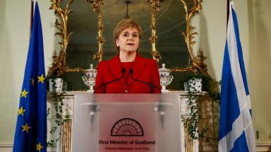 Nicola Sturgeon: The First Minister has said a second independence referendum is 'highly likely'.