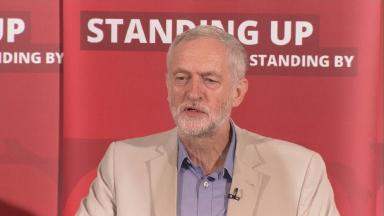 Mr Corbyn made it clear he has no plans to stand aside