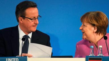 Leaders: EU nations are piling  pressure on Cameron to go faster.