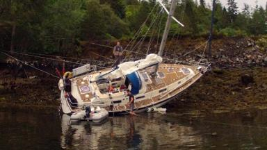 May Dream: Ran aground at Plockton Bay.