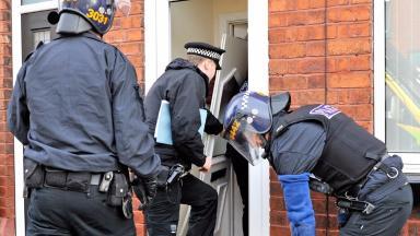 Arrests: The eight men have been detained in custody.