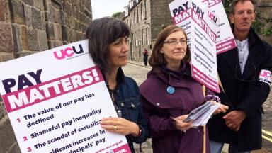 Strike: Staff have also raised concerns about zero-hours contracts.