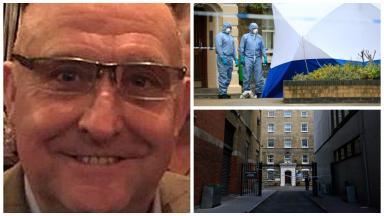 Murder: Gordon Semple was killed in London.