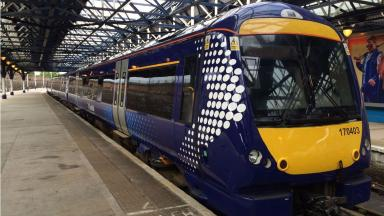 A Scotrail train at Dundee Train Station quality news image uploaded June 30 2016
