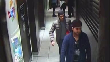 Search: Police want to question these two men.