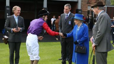Special guest: Queen Elizabeth II meets jockey Donnacha O'Brien.