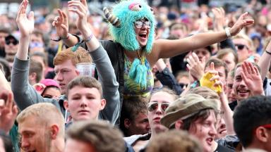 Festival: Crowds were in good spirits. (file pic)