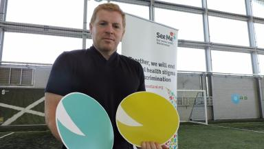 Neil Lennon: The Hibs manager has joined forces with See Me.