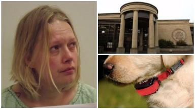 Dog collar: Lanna Monaghan was jailed for three years for the assaults.