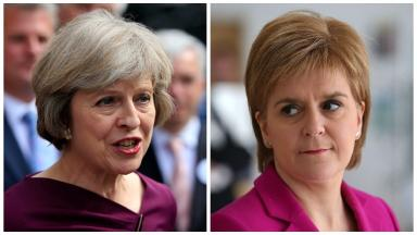Theresa May and Nicola Sturgeon composite. Uploaded July 11, 2016.