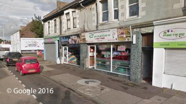 Takeaway shop: The Caspian on Wellesley Road, Methil.