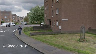 Alleged attack: The man suffered stab wounds on Oxgangs Drive.