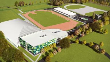 Design: An artist's impression of the proposed regional performance centre for sport.