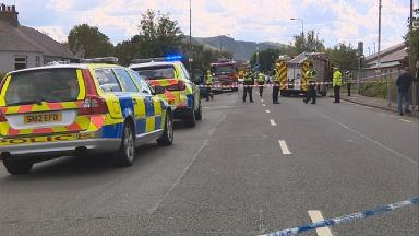 Crash: Emergency services at the scene of the hit and run.