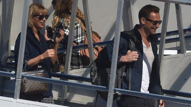 Hiddleswift arrive at Gold Coast airport in Australia