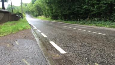 Fatal crash: The motorcyclist died at the scene, near Bogside.