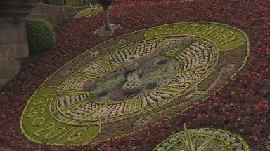 Floral clock: This year's creation was unveiled on Friday.