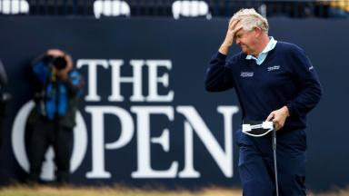 Final round: Montgomerie carded a 76 on Sunday.