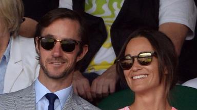 The couple together at Wimbledon.