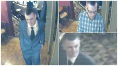CCTV: Anyone who recognises these men is asked to contact police.