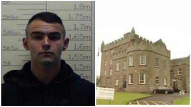 Traced: Daniel Hussain, 24, was reported missing from HMP Castle Huntly.