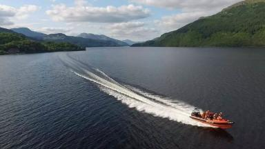 Crash: The vehicles collided on Loch Lomond.