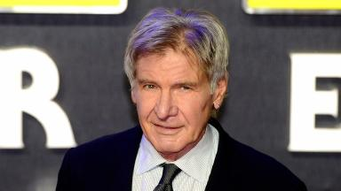 Harrison Ford plays Han Solo in the Star Wars films.