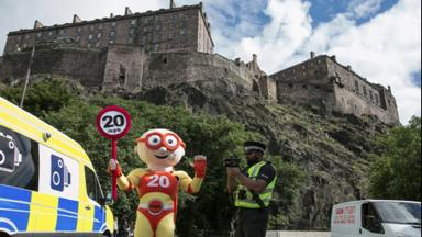 PC Sacha Poonia helps to promote the 20mph safety message.
