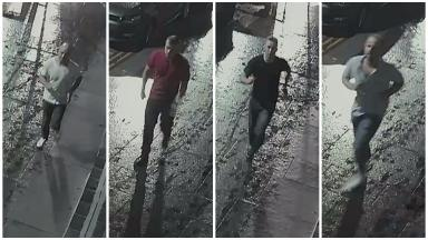 Attack: Two men required hospital treatment after the incident on Sunday.