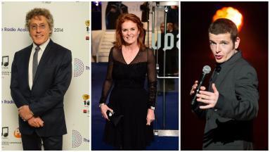 Celebrity trio: Stars in Glasgow to open children's unit.