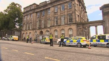 Investigation: Police cordoned off the area after the incident.