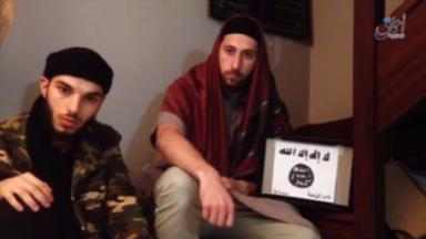 Kermiche (l) and Petitjean (r) pledged solidarity to so-called Islamic State