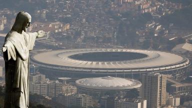 Christ the Redeemer overlooks Rio's Maracana stadium.