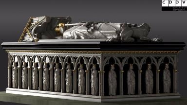 History: The reconstructed tomb of Robert the Bruce will go on show in Stirling.