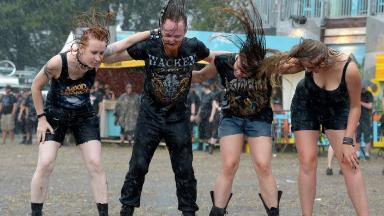 Metal fans at the Wacken Open Air festival in 2013