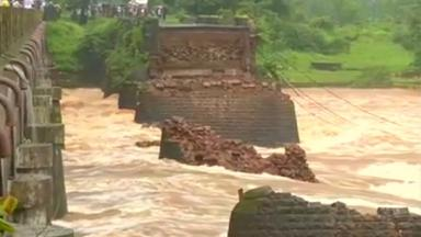 Several people are missing and feared dead after a bridge collapsed in India.