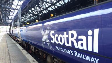 ScotRail train close up in Dundee Train Station quality news image uploaded August 3 2016