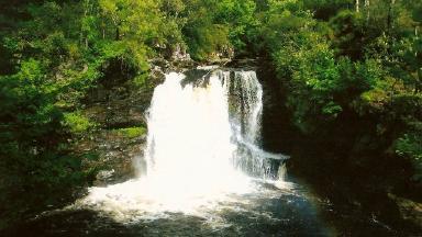 Waterfall: The Falls of Falloch is a popular beauty spot.