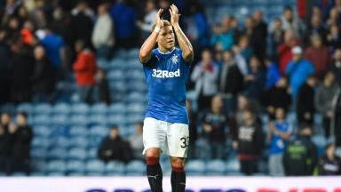 Puma: Martin Waghorn in new Rangers kit for season 2016/17.