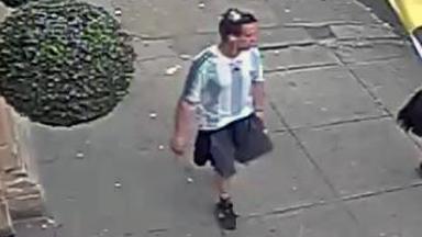 CCTV: Police hunt man over robbery bid on Hope Street.