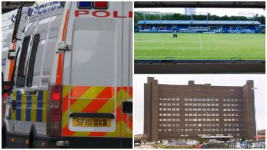Bottle attack: Victim was chased outside Greenock Morton's Cappielow Park.