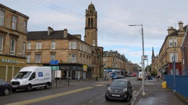 Albert Drive: Motorcyclist died in Pollokshields after clipping car.