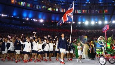 Andy Murray was the flagbearer for Team GB.