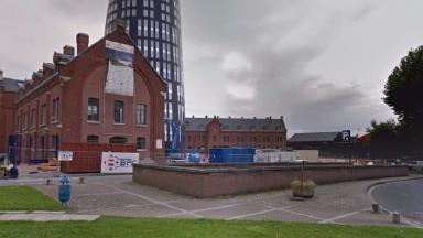 The police station in Charleroi where the incident happened Credit: Google Streetview